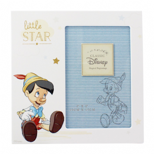 Disney's Pinocchio Photo Frame Gift For New Baby, Christenings and First Birthday
